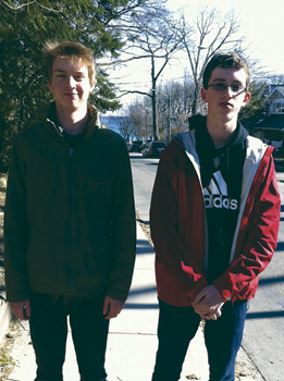 Cian Schmitt-Ulms and Luke  Zurcher