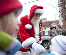 The sixth annual Beach Santa Claus Parade, left, is the first of a number of traditional holiday events to take place in the East End. The parade runs along Kingston Road, west from Victoria Park, cutting north to end at Community Centre 55. The fun gets underway at 1 p.m. on Sunday, Nov. 25. BEACH METRO NEWS FILE PHOTO: Phil Lameira