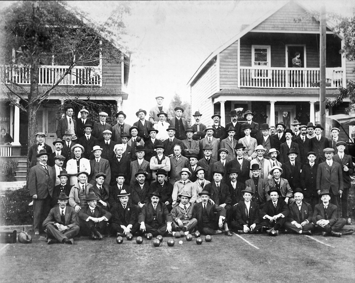 This historical photo shows the early years of the Kew Beach Lawn Bowling Club, which celebrated 100 years in 2008.
