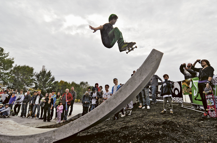 The Beach Skatepark opened at the corner of Lakeshore and Coxwell after years of petitioning and fundraising by local skaters and their parents. BEACH METRO NEWS FILE PHOTO: Jon Muldoon