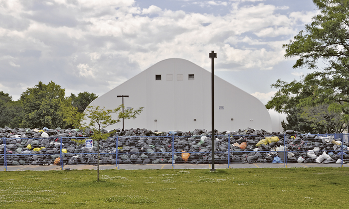 The garbage strike in the summer of 2009 saw Ted Reeve Community Arena used as a temporary dump site for East End residential garbage. BEACH METRO NEWS FILE PHOTO: Jon Muldoon
