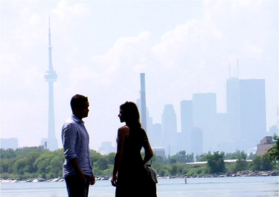 A still from the filming of Headcase, 95 per cent of which was filmed east of the Don River, according to the filmmakers.