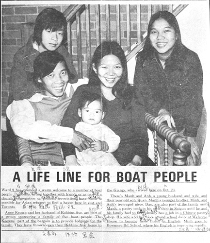 The Giangs were featured on the front page of Ward 9 Community News (now Beach Metro News) in 1979, when they first arrived in Toronto from Vietnam.