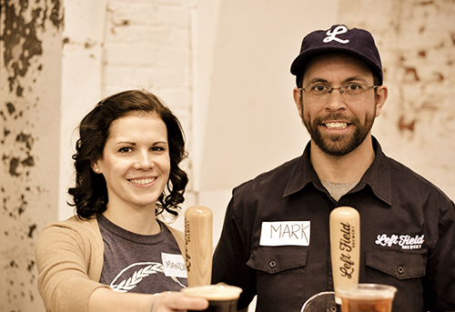 Mandie and Mark Murphy, owners of Left Field Brewery, are seen at their recent open house. PHOTO: Robin LeBlanc