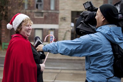 Carole Stimmell, the 2014 Beach Citizen of the Year, is seen here during a past Beach Santa Claus Parade. The parade is organized by Community Centre 55, one of the many organizations at which Stimmell has volunteered her time. FILE PHOTO
