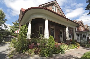 The Heritage Conservation District on Lyall Avenue features a number of unique homes, including the one with this porch. PHOTO: Andrew Hudson