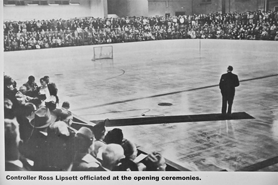 Ross Lipsett faces the over-capacity crowd on opening night at Ted Reeve Arena on Oct. 13, 1954. On Saturday, Oct. 18, the arena will host an all-day 60th birthday party, featuring exhibition games, including the GTHL Ted Reeve Thunder and Ted Reeve Tornados teams, a barbecue, a DJ, kids' activities, the Toronto Maple Leafs mobile fan zone, a skills competition, and special guests and alumni. For more on the party and history on the arena and the players who have played there, see tedreevehockey.org. Anyone with old Ted Reeve hockey photos is invited to scan and post them to the Ted Reeve Facebook page, where the community will try to help identify the faces.