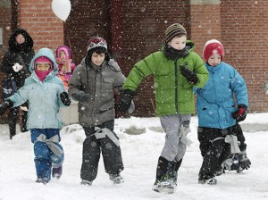 Snowshoe races are just part of the fun at Community Centre 55's annual Winter Carnival. BEACH METRO NEWS FILE PHOTO