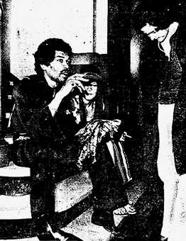Jack Kwinter stands by rocker Jimi Hendrix on the steps of Old City Hall in a Toronto Star photo published June 19, 1969. PHOTO: Jeffe Good, Toronto Star