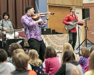 JUNO nominees The Sultans of String perform for students at Kimberley/Beaches Alternative schools on Jan. 29. PHOTO: Andrew Hudson