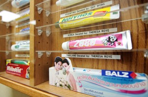 Some of the global toothpaste tubes in Dr. Allan Katchky's collection. PHOTO: Andrew Hudson