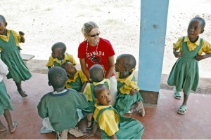 Lisa Oelke spent her 50th birthday volunteering at an orphanage in Tanzania. When she returned to Canada, she started working on a project to bring solar electricity to the Majengo orphanage. In a few weeks she will fly out with a small group of solar experts to oversee installation of the 6,700-watt system. PHOTO: Submitted
