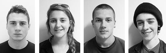 Malvern students Braden Ream-Neal, Hannah Rushton, Will McLean, and Maxim Bortnowski