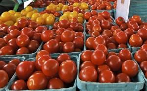 Tomatoes at the East Lynn Farmers' Market. BEACH METRO NEWS FILE PHOTO