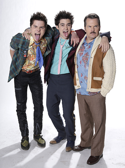 From left, Atticus Mitchell as Shinky, Tim Carlson as Ian McKay and Bruce McCulloch as Lloyd McKay in Young Drunk Punk.