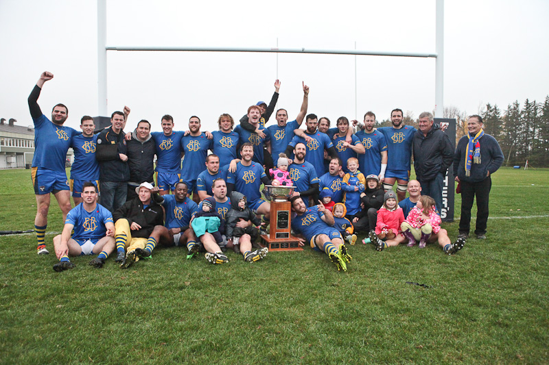 Balmy Beach firsts won the McCormick Cup for the second year in a row after defeating the Toronto Scottish 27-15 at Fletcher's Fields on Oct. 24. PHOTO: PHIL LAMEIRA