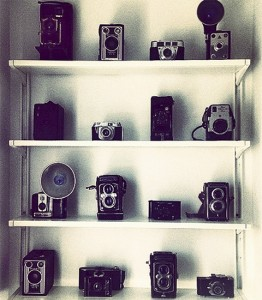 A collection of vintage cameras. PHOTO: Bragg & Bee