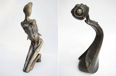 Julie Campagna's bronze sculptures Liquid, at left, and Bugged, at right, were stolen last week from the Great Spirit Gallery on Queen Street East near Glen Manor Drive. The solid bronze sculptures, which are valued at $1,900 each, stand about nine and 12 inches tall. Image courtesy Great Spirit Gallery