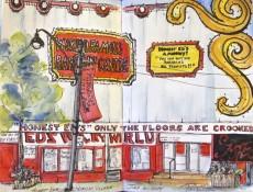 Honest Ed's sketch by Patricia Desilva, Toronto Urban Sketchers