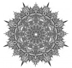 Mandala by Stephanie Smash, part of  We are All Precious Snowflakes at  Yellow House Gallery