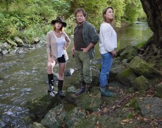 The cast of The River includes Beach resident Dani Kind, left, David Ferry, and Jane Spidell.