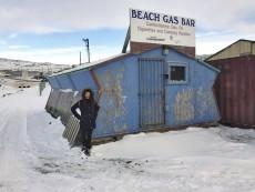 Malvern student Georgia Koumantaros at the Beach Gas Bar. It might be considered Upper, Upper Beach, serving Iqaluit, Nunavut. PHOTO: Submitted