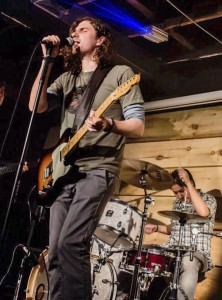 Alex Andrews performs with his previous band, The Marks. Andrews has developed an app to teach songwriting skills to burgeoning musicians. PHOTO: courtesy Alex Andrews