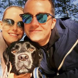 The Dawg Grillz team: Beacher Scott Luscombe, his fiancé Marina Vander Heyden, and Roam. PHOTO: courtesy Dawg Grillz