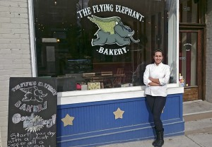 Betsabe Bustillos and husband Daniel Ospina opened The Flying Elephant Bakery in the fall. PHOTO: courtesy Betsabe Bustillos