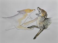 art-yellow house-Laura Fedynyszyn- FoxyBoxing