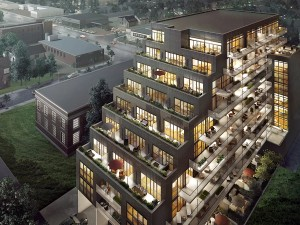 The On The Danforth development is shown in this illustration. Sales are past the 50 per cent mark, and occupancy is scheduled for late 2018. PHOTO: courtesy On the Danforth