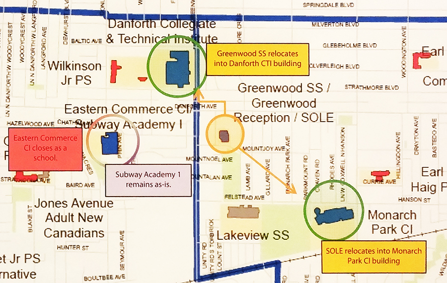 Greenwood Secondary, SOLE would move under PARC recommendations