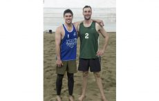 Team Canada university beach volleyball players Devon Dunn and Dallas Keith.