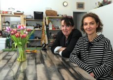 Unlimited Arts Studio co-founders DeAnn deGruijter, left, and Fiona Bramzell at their Main Street studio.