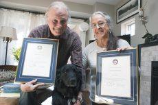 Bob and Karen Hutton, with pup Haida, at their home near the Beach boardwalk May 9, 2016.