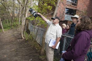 Retired teacher Michael Hume leads a Jane's Walk on the history of the so-called Upper Beaches Sunday, May 8, 2016.