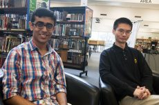 Top scholars Sailesh Nankani, left, and Kenneth Wong at East York Collegiate July 14, 2016.