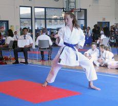 Beach karate athlete Anna Dawson competes in kata at the Ontario Summer Games in Mississauga.  Photo: Ken Benson