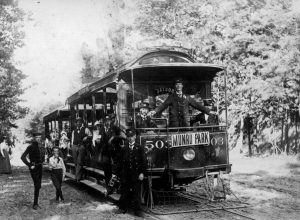 Munro Park circa 1900: Visitors could ride the streetcar directly to the park's entrance. PHOTO: Toronto Archives