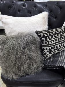 Think texture, layers, and monocromatic tones for fall home decor.
