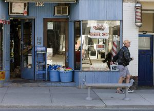 Roma Barbershop on Queen Street East sat deserted for months.