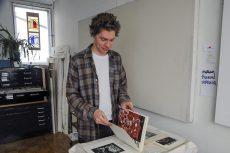 East End artist Stefan Berg at his Lower Dawes studio.