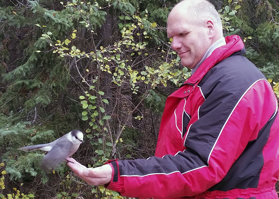 Jef with Grey Jay.