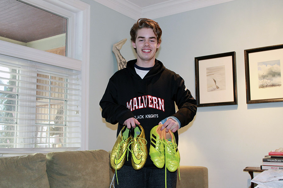 Ben Frolic is collecting gently-used cleats for charity.