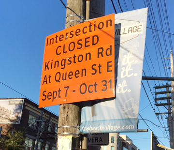 Queen Street East and Kingston Road intersection closure set