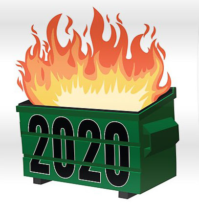 web 2020 dumpster fire image – Beach Metro Community News